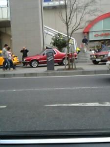 土浦駅前で開催されていた車のイベント