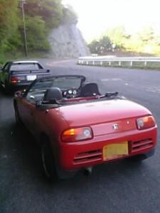 筑波山にてPP-1ビートとMR2AW11