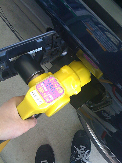 MR2AW11自作給油口ベロの使用中