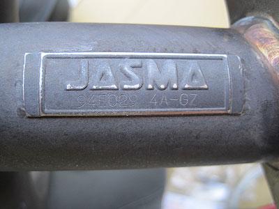 MR2AW11用CUSCOパワーボールエキゾーストマニホールドJASMAプレート