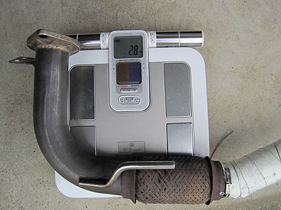 MR2AW11用CUSCOパワーボールフロントパイプ重量