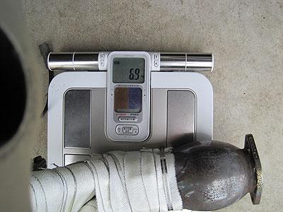 MR2AW11用CUSCOパワーボールエキゾーストマニホールド重量