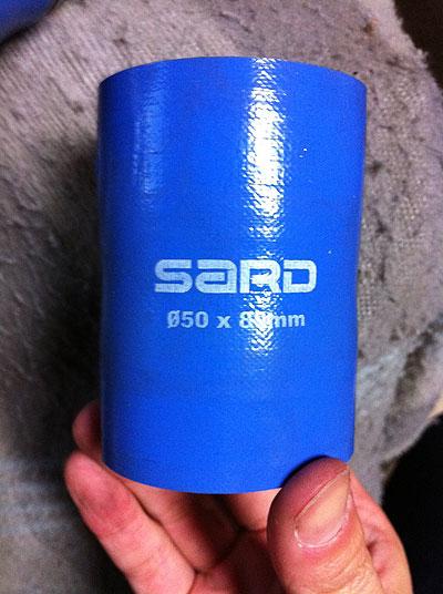 MR2AW11に一週間使用したSARD製シリコンホース
