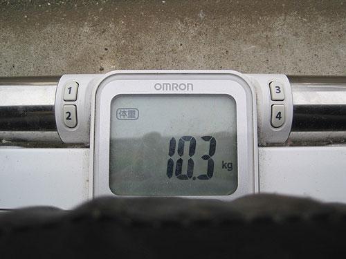 ロードスター(NA6CE)のテンパータイヤの重量
