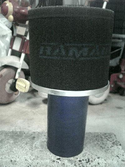 クリーニング前のMR2AW11用RAMAIRエアクリーナー