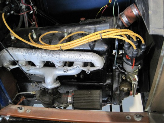 T型フォードのエンジンルーム