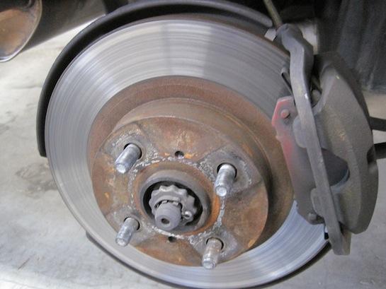 MR2 AW11リアのブレーキディスクローター