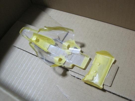 ミニ四駆 バンキッシュ クリヤーボディ(ポリカーボネート) 塗装