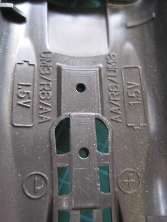 タミヤ ミニ四駆 ARシャーシ 00型2番 電池種類表示
