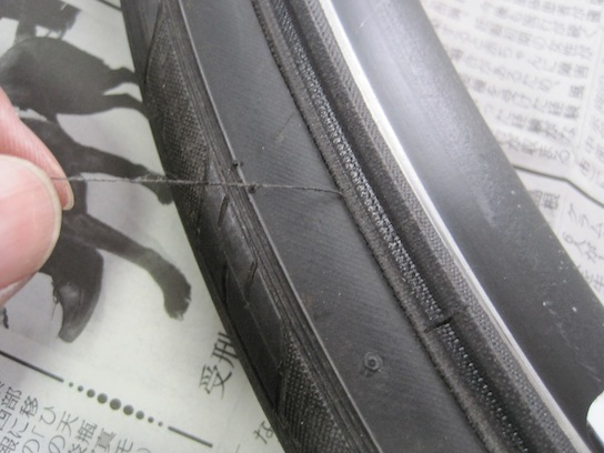 ジャイアント エスケープR3のタイヤの経年劣化