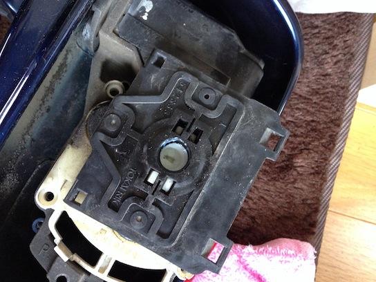MR2 AW11 電動格納ドアミラー ミラー分解